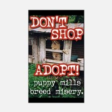 Don't Shop, Adopt Sticker (Rectangular