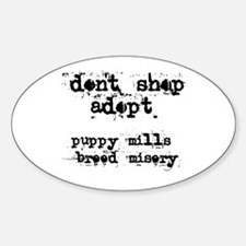 Breed Misery - Oval Decal
