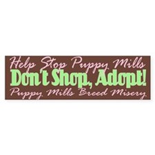Stop Puppy Mills - Bumper Bumper Sticker