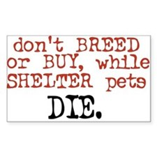 Shelter Pets Die - Rectangle Decal