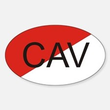 Cav oval Decal