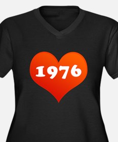 My heart is 1976 Plus Size T-Shirt
