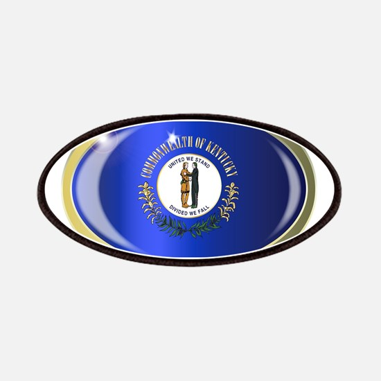 Kentucky State Flag Oval Button Patch