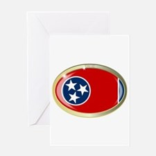 Tennessee State Seal Oval Button Greeting Cards