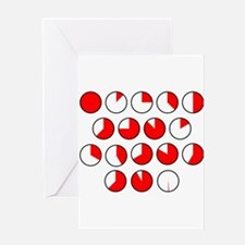 Pie Chart Sections Greeting Cards