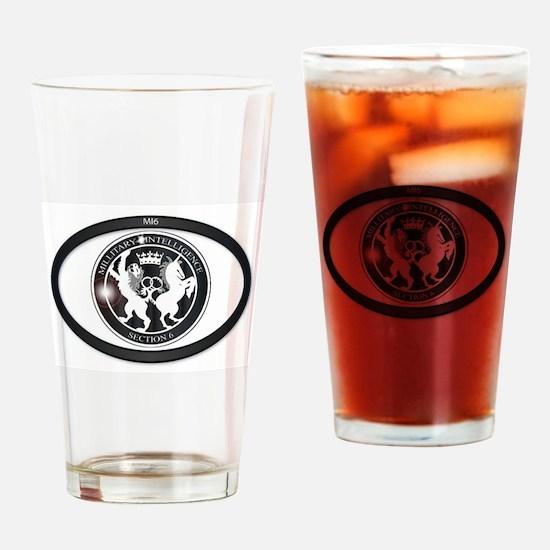 MI6 Oval Badge Drinking Glass