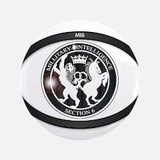 MI6 Oval Badge Button