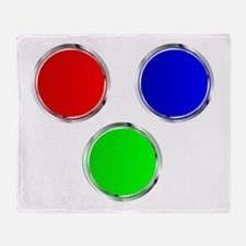 Round RGB Web Icons Throw Blanket