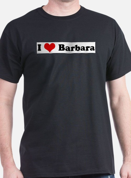I Love Barbara Ash Grey T-Shirt