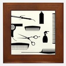 Salon Tools Framed Tile