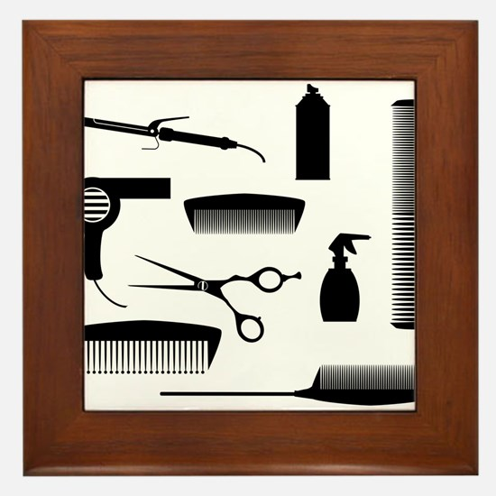 Salon Tools Framed Tile