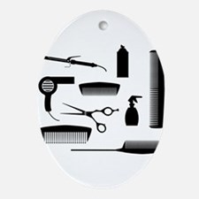 Salon Tools Oval Ornament