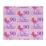 90th birthday Fleece Blankets