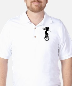 Little Girl On A Unicycle Golf Shirt