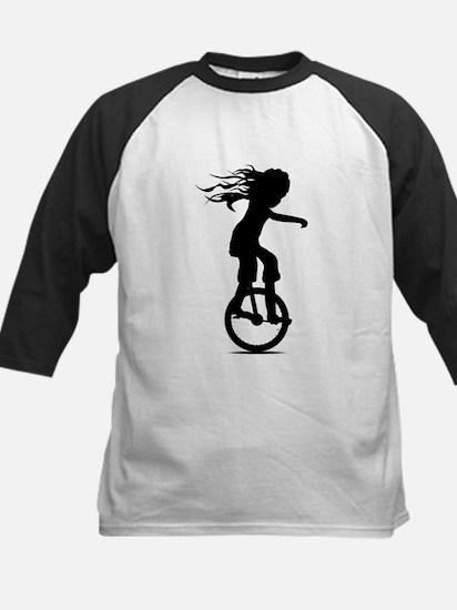 Little Girl On A Unicycle Baseball Jersey