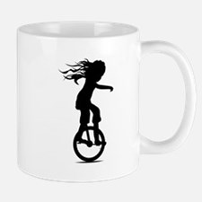 Little Girl On A Unicycle Mugs