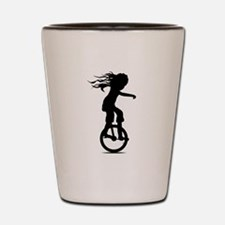 Little Girl On A Unicycle Shot Glass