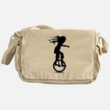 Little Girl On A Unicycle Messenger Bag