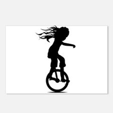 Little Girl On A Unicycle Postcards (Package of 8)
