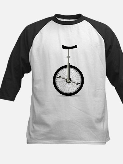 Unicycle On White Baseball Jersey