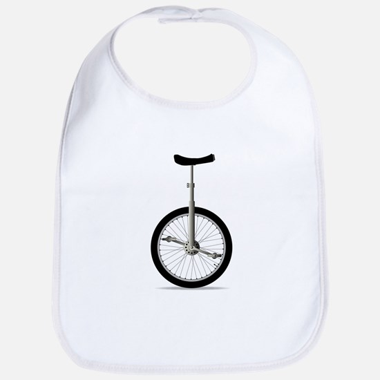 Unicycle On White Bib