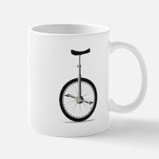 Unicycle On White Mugs