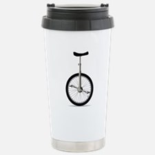 Unicycle On White Stainless Steel Travel Mug