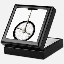 Unicycle On White Keepsake Box