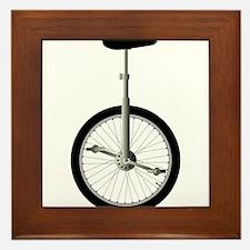 Unicycle On White Framed Tile