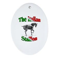 The Italian Stallion Oval Ornament