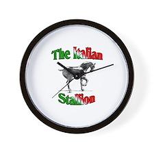 The Italian Stallion Wall Clock
