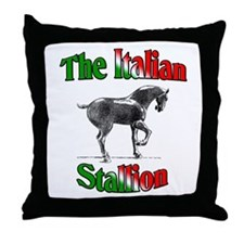 The Italian Stallion Throw Pillow