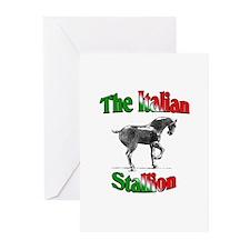 The Italian Stallion Greeting Cards (Pk of 10)