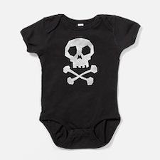 Unique Skull and crossbones Baby Bodysuit