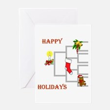 Pedigree Christmas Tree Greeting Card