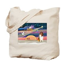 XmasStar/Collie Tote Bag