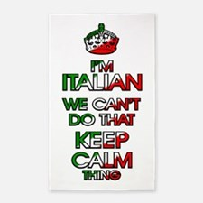 Italian That Keep Calm Thing Area Rug