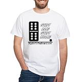 Dominoes Mens White T-shirts