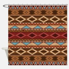 Navajo Native American Pattern Shower Curtain