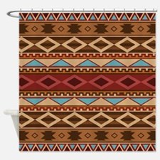 Navajo Native American Pattern Shower Curtain