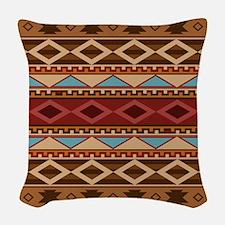 Navajo Native American Pattern Woven Throw Pillow