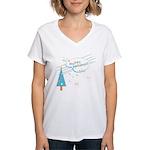 New Modern Retro Holidays Women's V-Neck T-Shirt