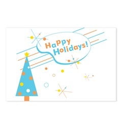 New Modern Retro Holidays Postcards (Package of 8)