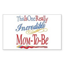 Incredible Mom-to-be Rectangle Decal