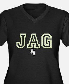 jag 2 Women's Plus Size V-Neck Dark T-Shirt