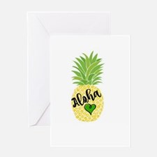 Aloha Pineapple Design Greeting Cards