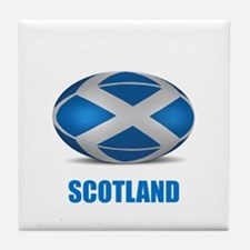 Cute Scotland rugby Tile Coaster