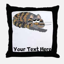 Cat Curled Up (Custom) Throw Pillow