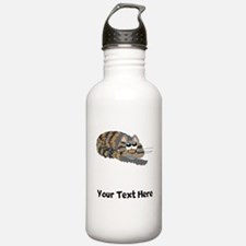 Cat Curled Up (Custom) Water Bottle
