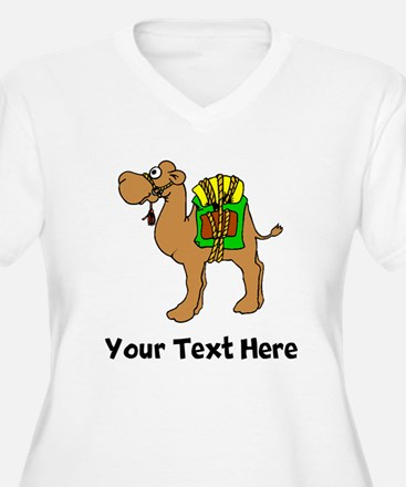 Camel With Gear (Custom) Plus Size T-Shirt